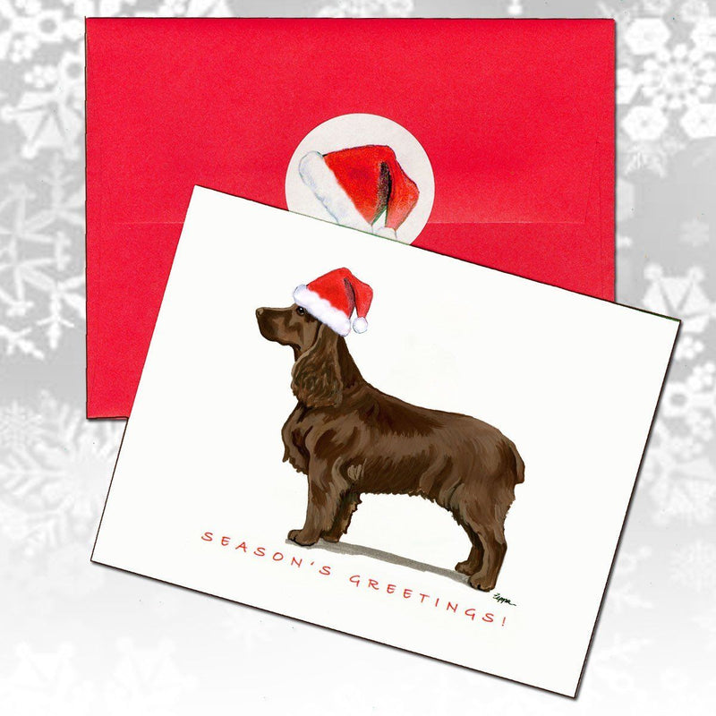 Field Spaniel Christmas Note Cards
