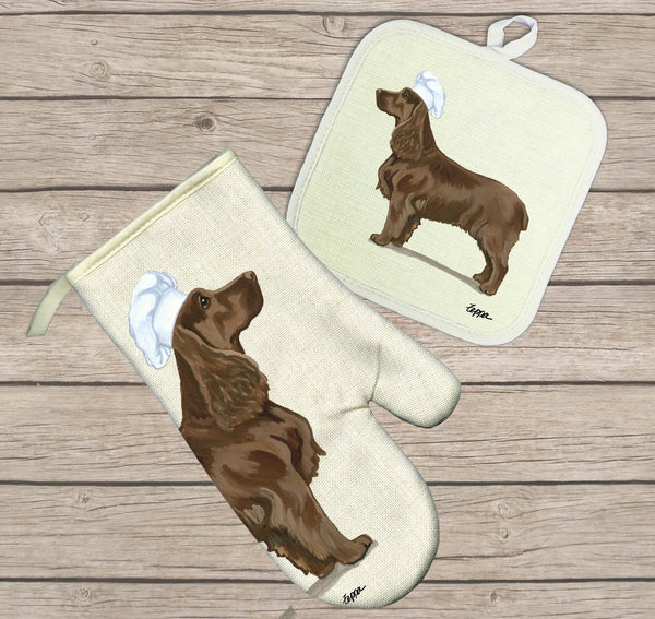 Field Spaniel Oven Mitt and Pot Holder