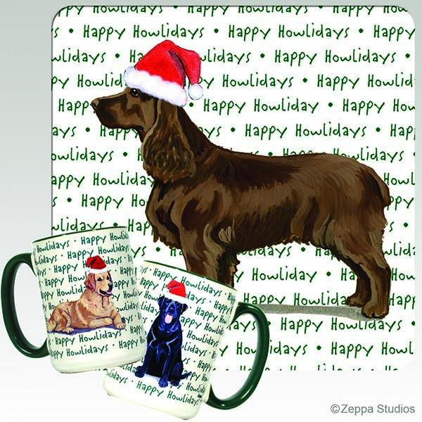 Field Spaniel Holiday Mug