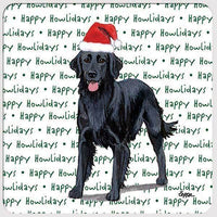 "Flat Coated Retriever ""Happy Howlidays"" Coaster"