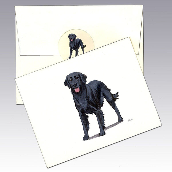Flat Coated Retriever Note Cards