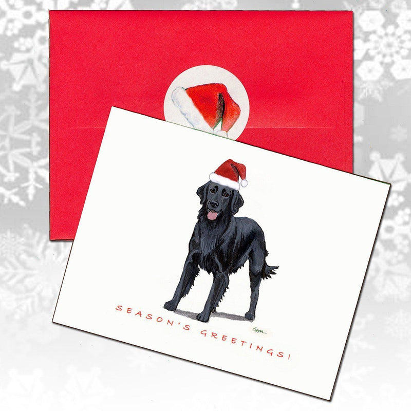 Flat Coated Retriever Christmas Note Cards