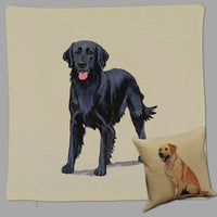 Flat Coated Retriever Pillow Cover