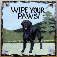 Flat Coated Retriever Slate Sign