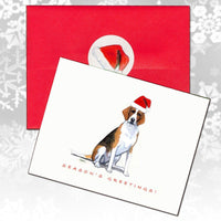 Foxhound Christmas Note Cards