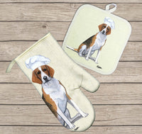 Foxhound Oven Mitt and Pot Holder