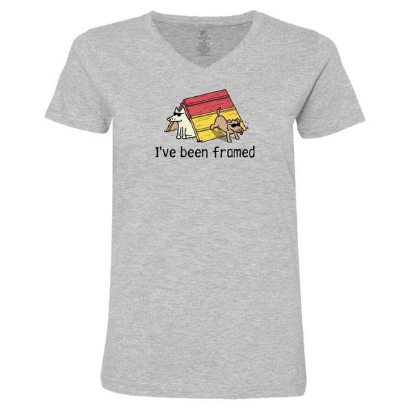 I've Been Framed - Ladies T-Shirt V-Neck