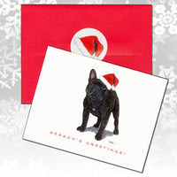 French Bulldog Christmas Note Cards
