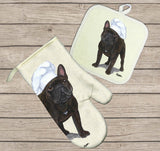 French Bulldog Oven Mitt and Pot Holder