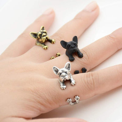 French Bulldog Wrap Ring