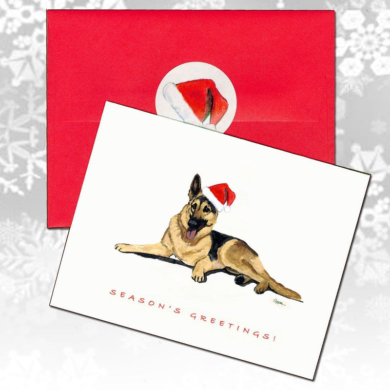 German Shepherd Dog Christmas Note Cards
