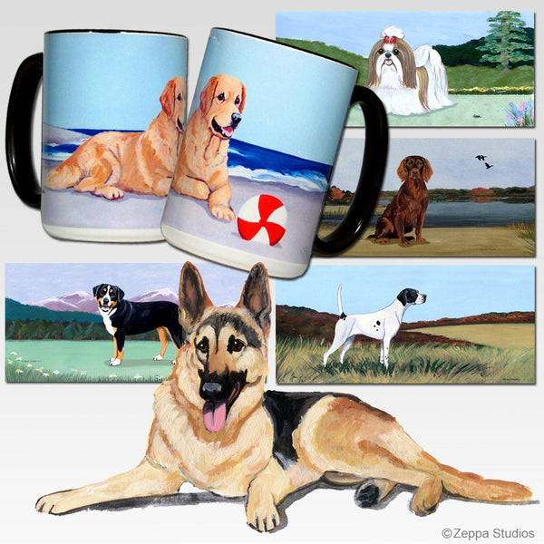 German Shepherd Dog Scenic Mug