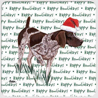 "German Shorthaired Pointer ""Happy Howlidays"" Coaster"