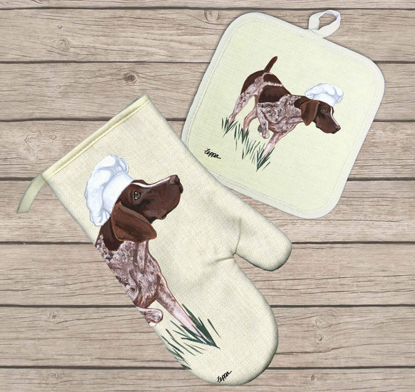 German Shorthaired Pointer Oven Mitt and Pot Holder