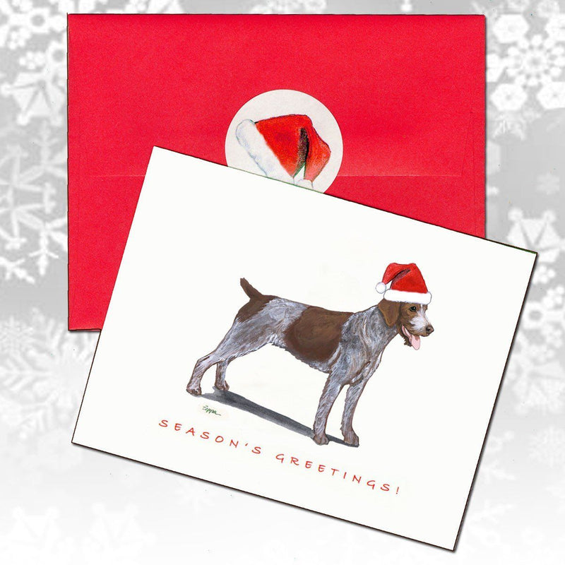 German Wirehaired Pointer Christmas Note Cards