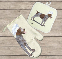 German Wirehaired Pointer Oven Mitt and Pot Holder