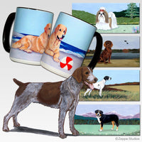 German Wirehaired Pointer Scenic Mug