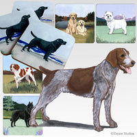 German Wirehaired Pointer Scenic Coaster