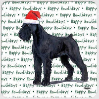 "Giant Schnauzer ""Happy Howlidays"" Coaster"