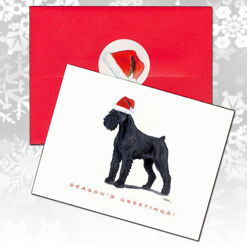 Giant Schnauzer Christmas Note Cards