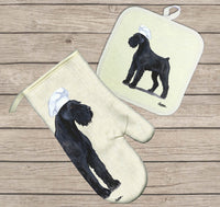 Giant Schnauzer Oven Mitt and Pot Holder