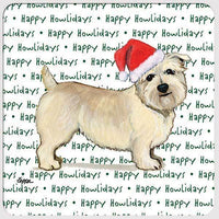 "Glen of Imaal Terrier ""Happy Howlidays"" Coaster"