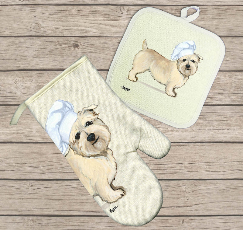Glen of Imaal Terrier Oven Mitt and Pot Holder