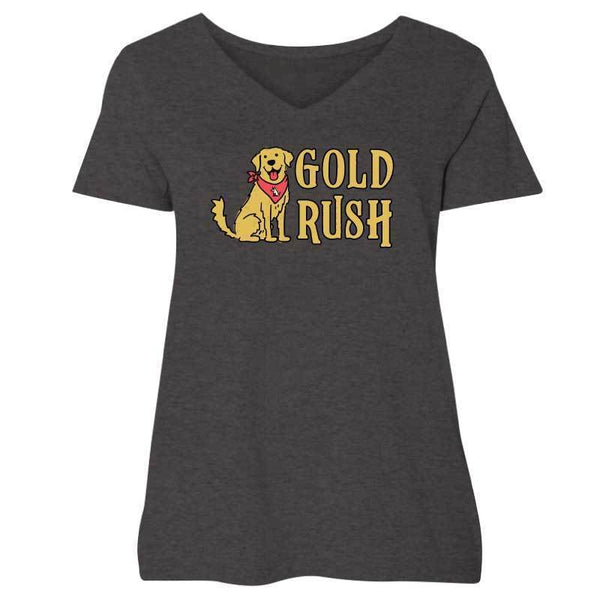 Gold Rush - Ladies Curvy V-Neck Tee