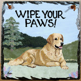Golden Retriever Slate Sign