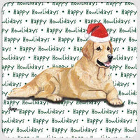 "Golden Retriever ""Happy Howlidays"" Coaster"