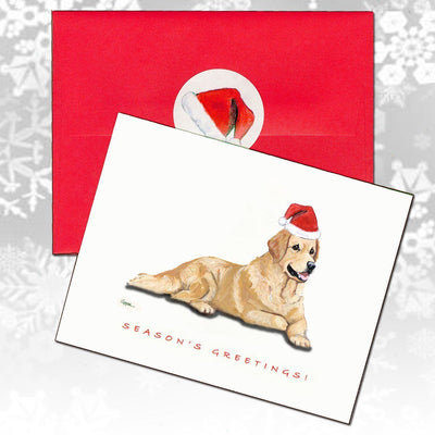Golden Retriever Christmas Note Cards