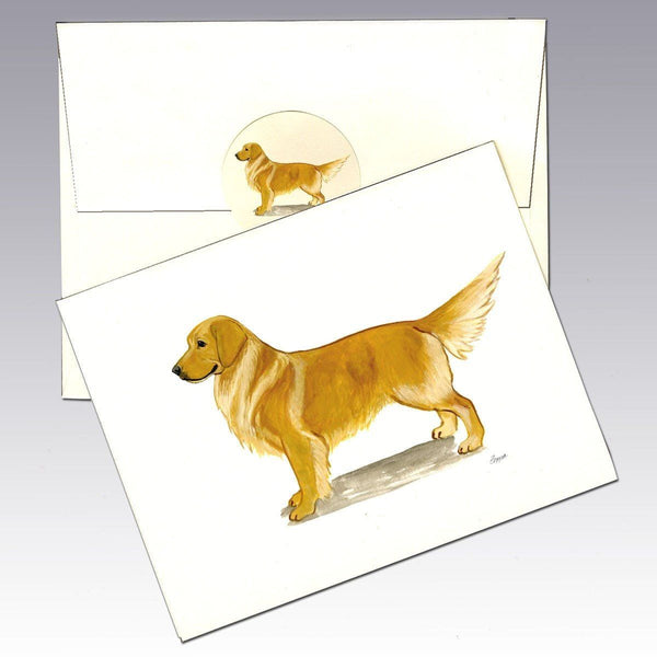 Golden Retriever, Standing Note Cards
