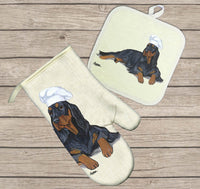 Gordon Setter Oven Mitt and Pot Holder