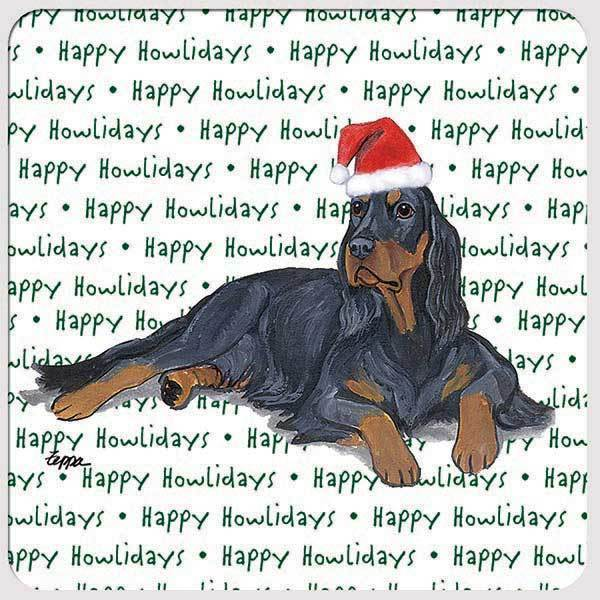 "Gordon Setter ""Happy Howlidays"" Coaster"