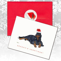Gordon Setter Christmas Note Cards