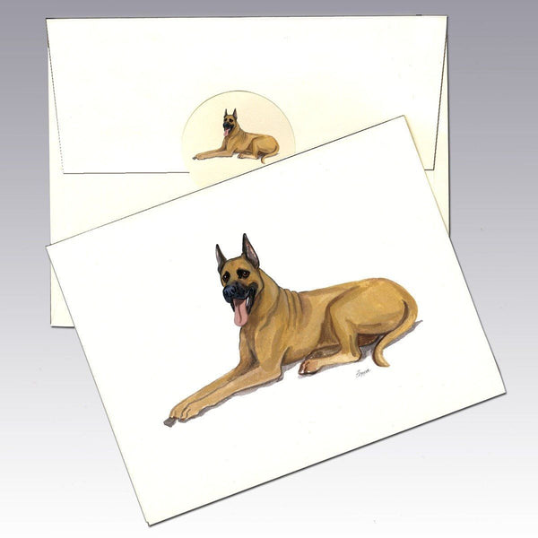 Great Dane, Fawn Note Cards