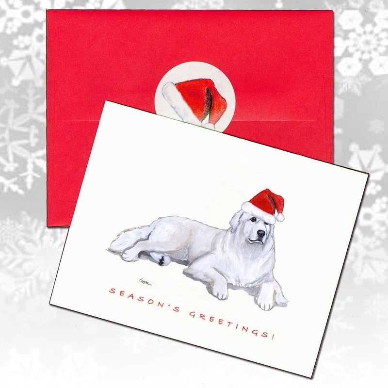 Great Pyrenees Christmas Note Cards