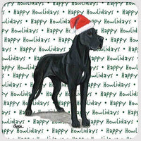 "Great Dane, Black ""Happy Howlidays"" Coaster"