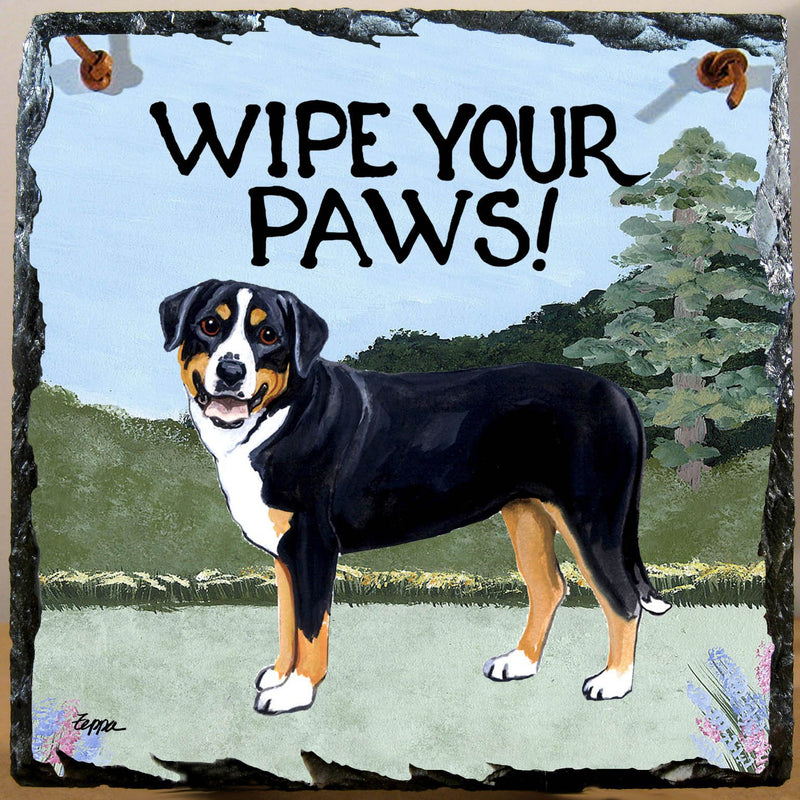 Greater Swiss Mountain Dog Slate Sign