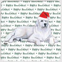 "Great Pyrenees ""Happy Howlidays"" Coaster"