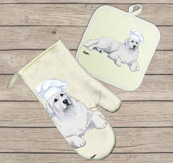 Great Pyrenees Oven Mitt and Pot Holder