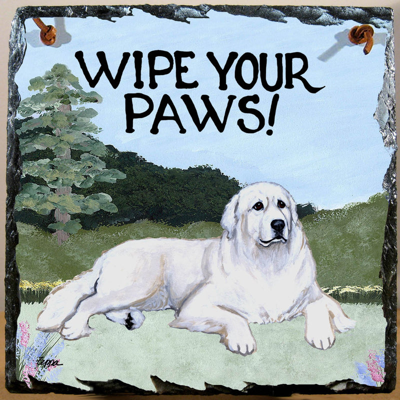 Great Pyrenees Slate Sign