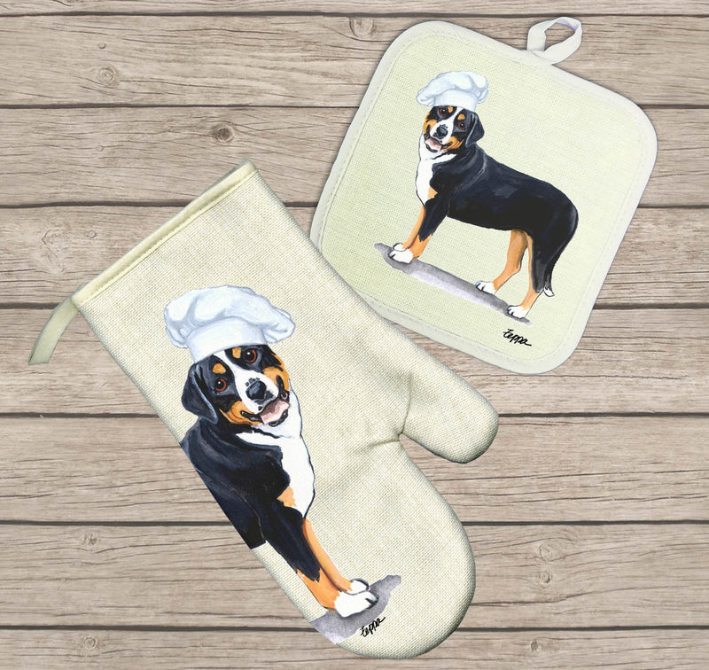 Greater Swiss Mountain Dog Oven Mitt and Pot Holder