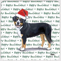 "Greater Swiss Mountain Dog ""Happy Howlidays"" Coaster"