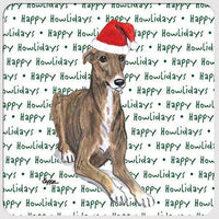 "Greyhound ""Happy Howlidays"" Coaster"
