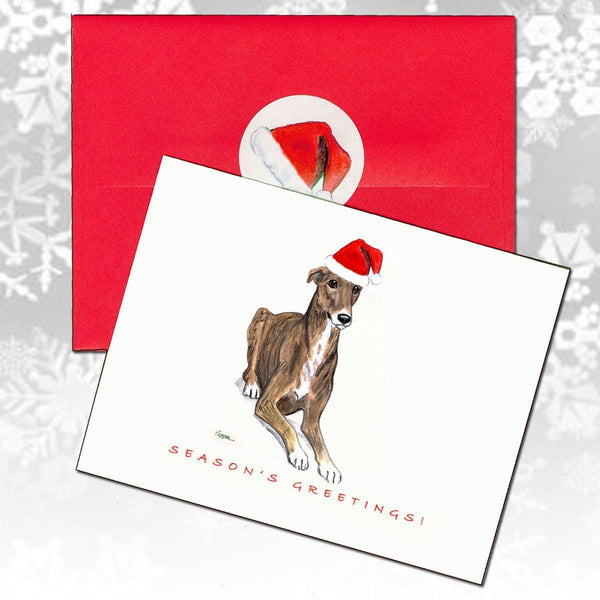 Greyhound Christmas Note Cards