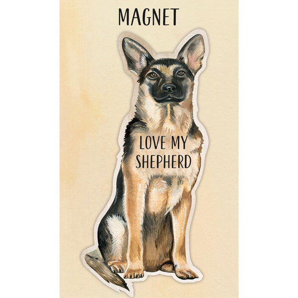 I Love My German Shepherd Dog Magnet