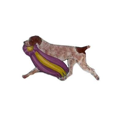 Hand-Painted German Shorthaired Pointer Pin