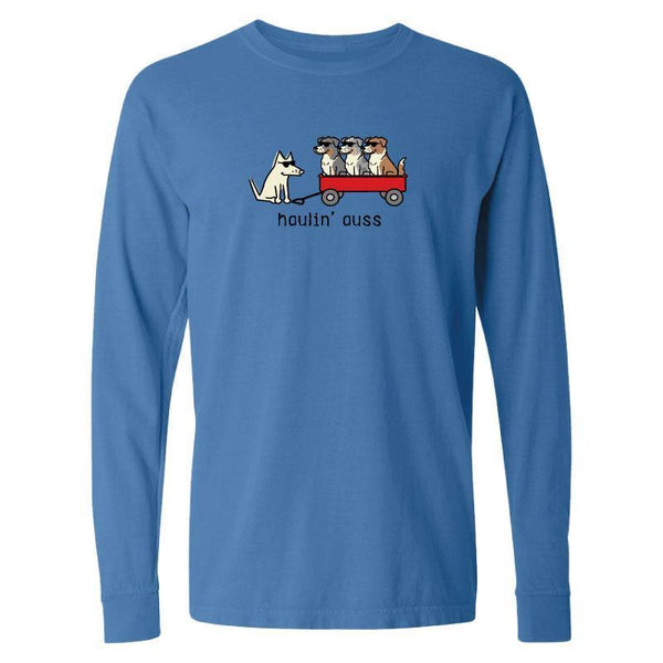 Haulin' Auss - Long-Sleeve T-Shirt Classic - Teddy the Dog T-Shirts and Gifts