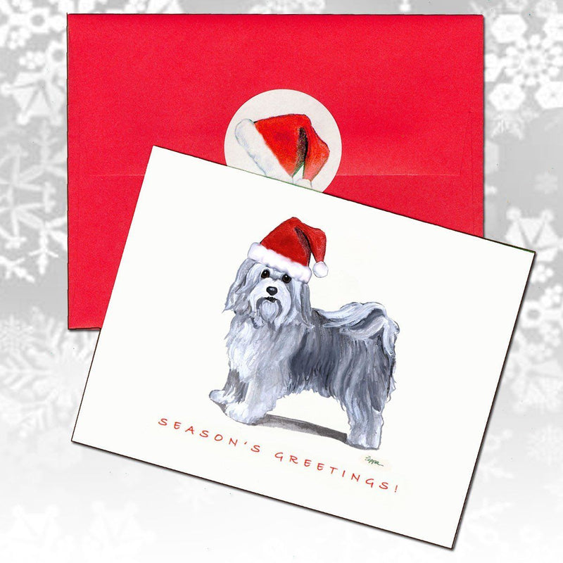 Havanese Christmas Note Cards